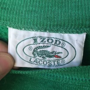 Lacoste Shirts - Vintage 80's green Lacoste sweatshirt large baggy